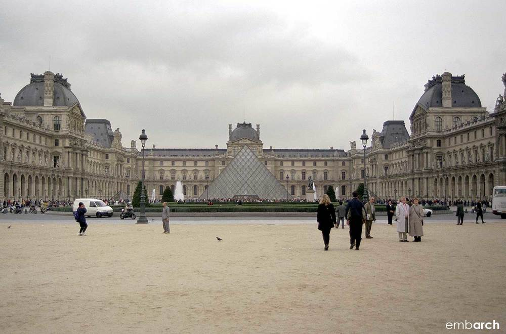 Louvre - exterior courtyard view