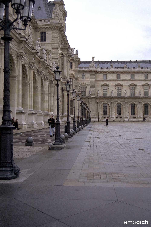 Louvre - exterior courtyard