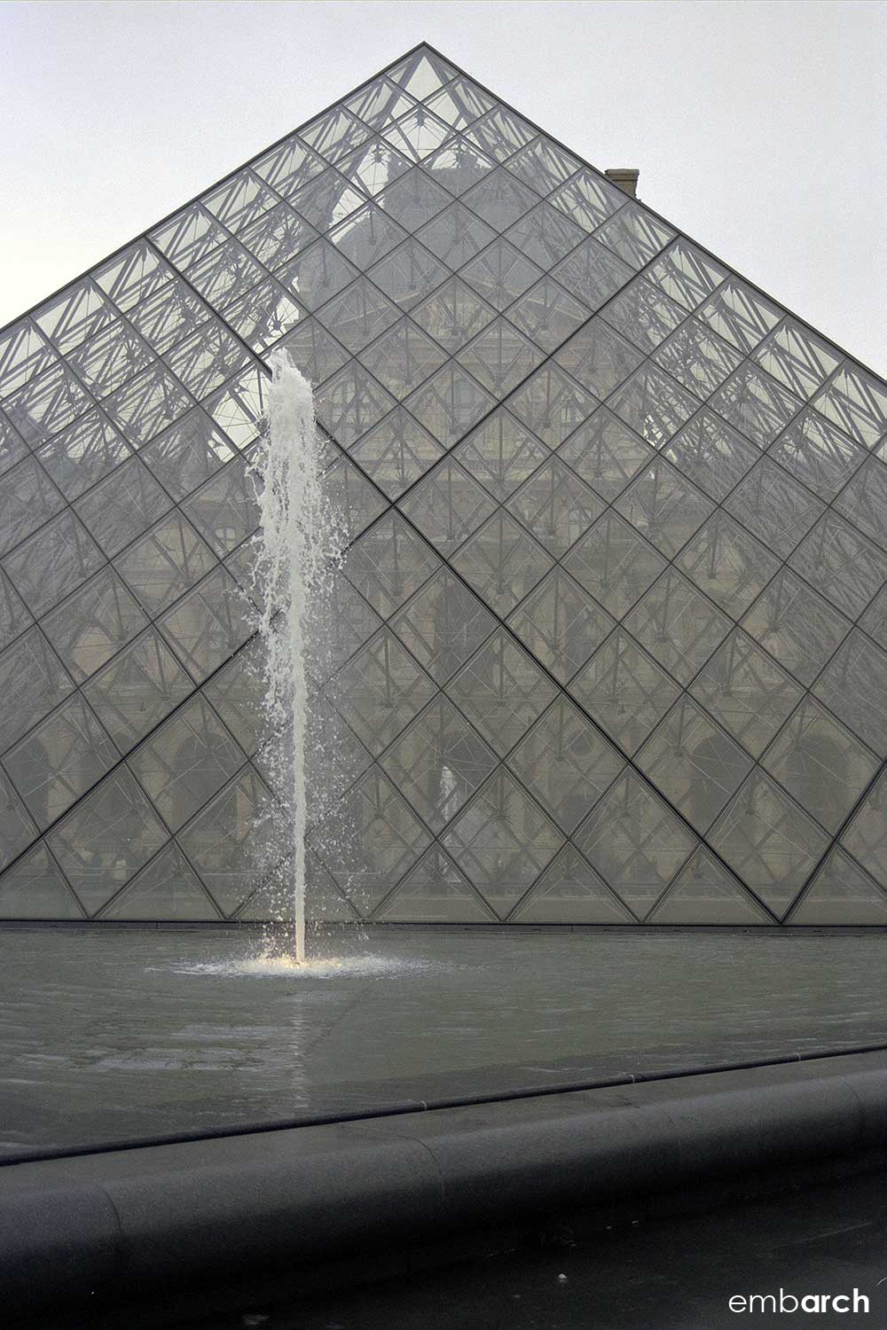Louvre - exterior courtyard pyramid detail