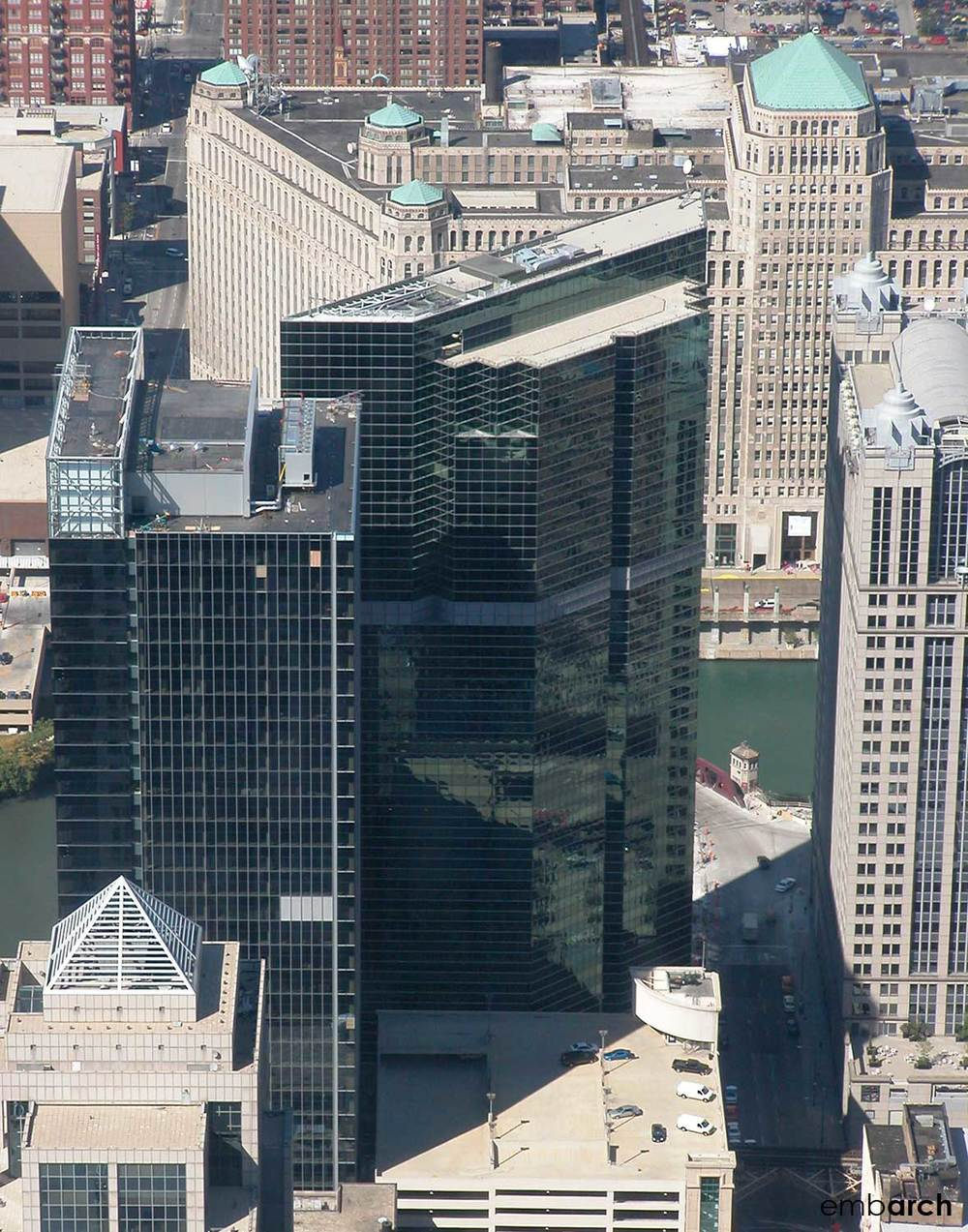 333 West Wacker Drive - aerial view