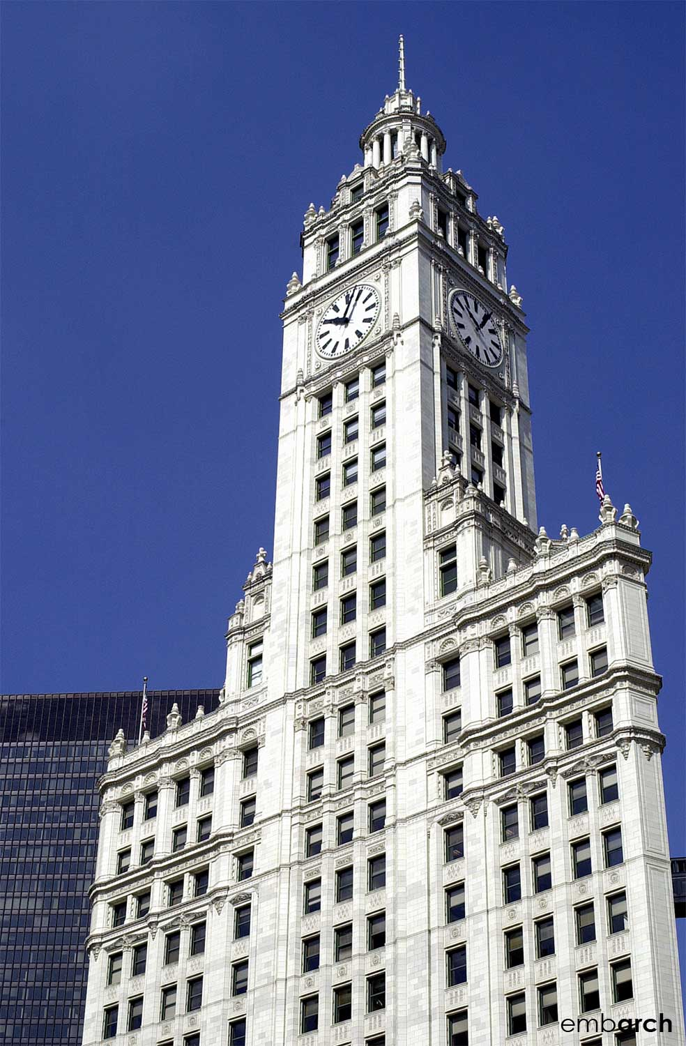 Wrigley Building - south tower exterior