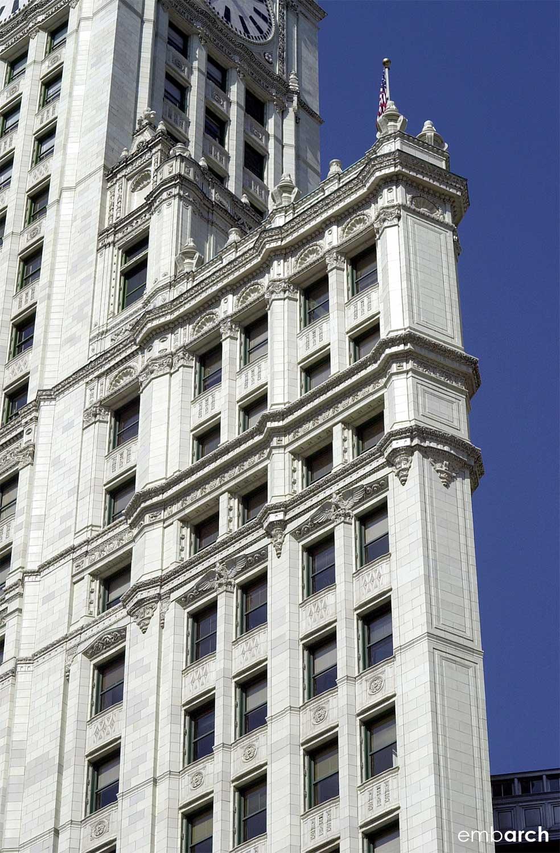 Wrigley Building - exterior detail