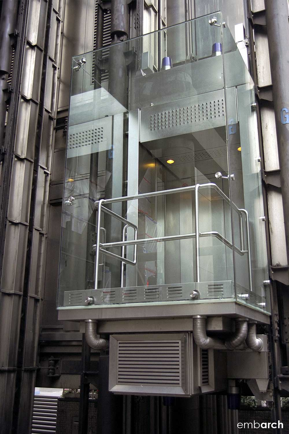Lloyds of London - exterior elevator detail