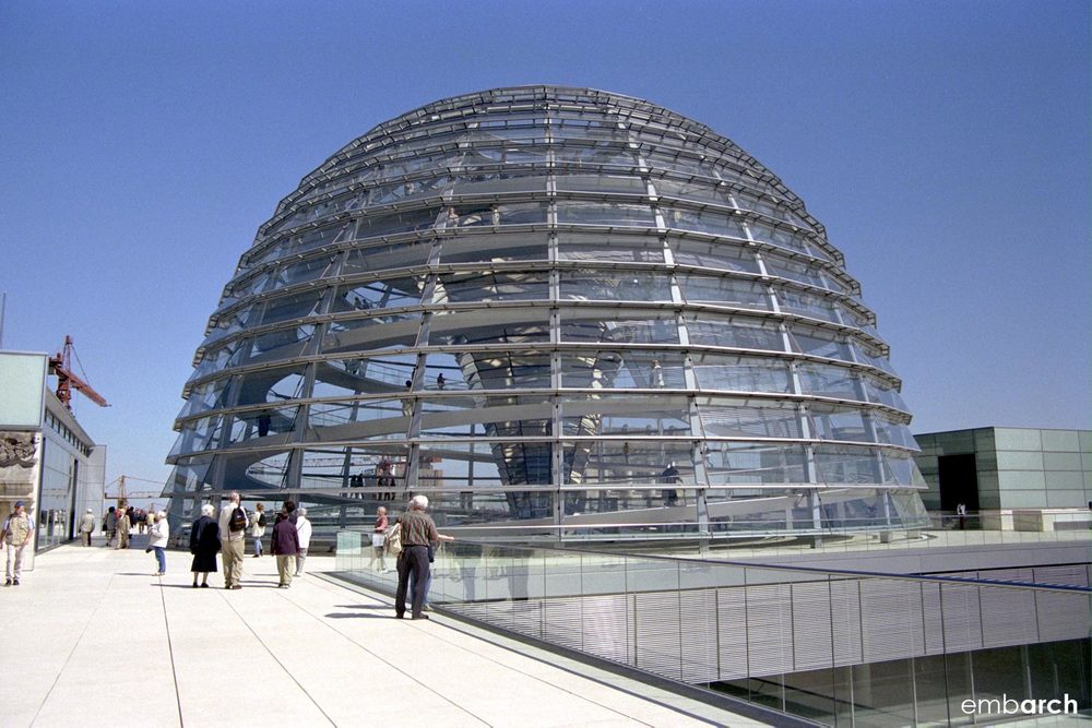 Reichstag Building - dome exterior and roof terrace