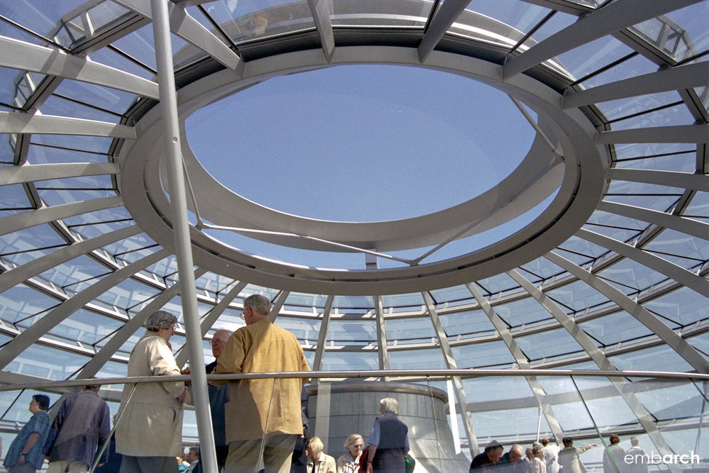 Reichstag Building - dome interior oculus