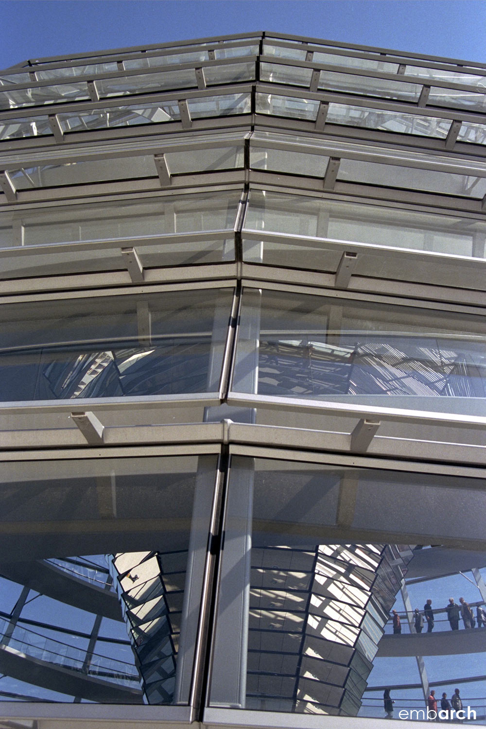 Reichstag Building - dome exterior detail