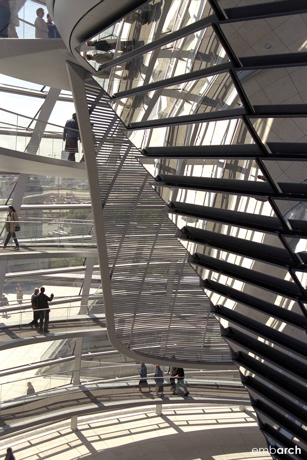 Reichstag Building - dome interior