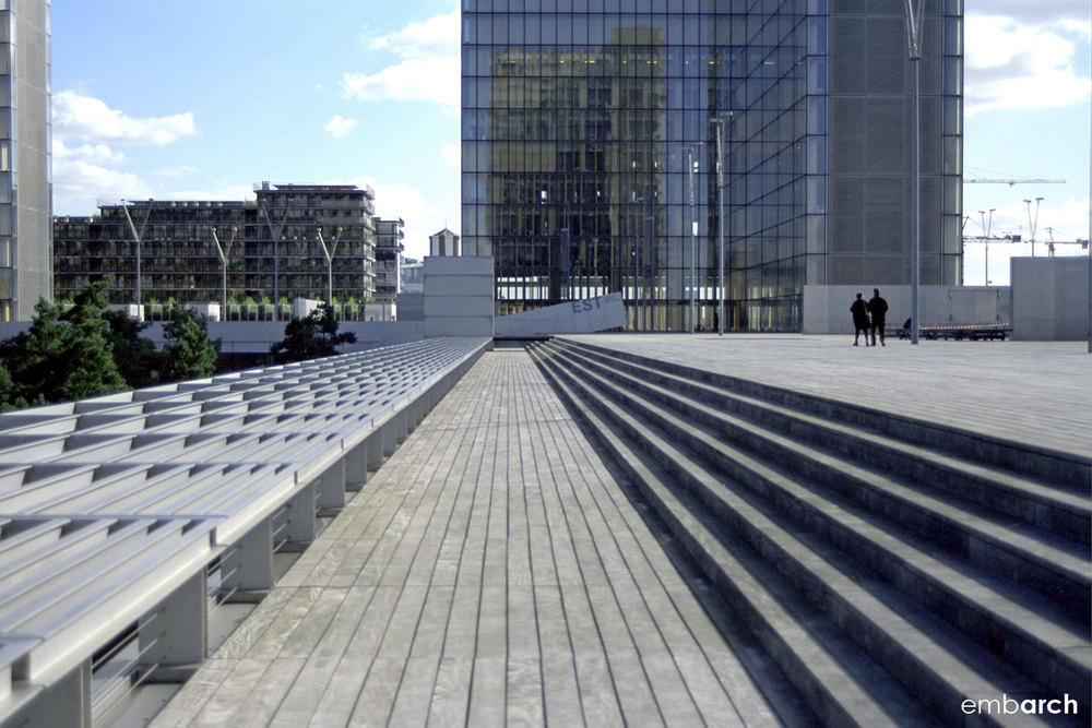 Bibliotheque Nationale - exterior plaza