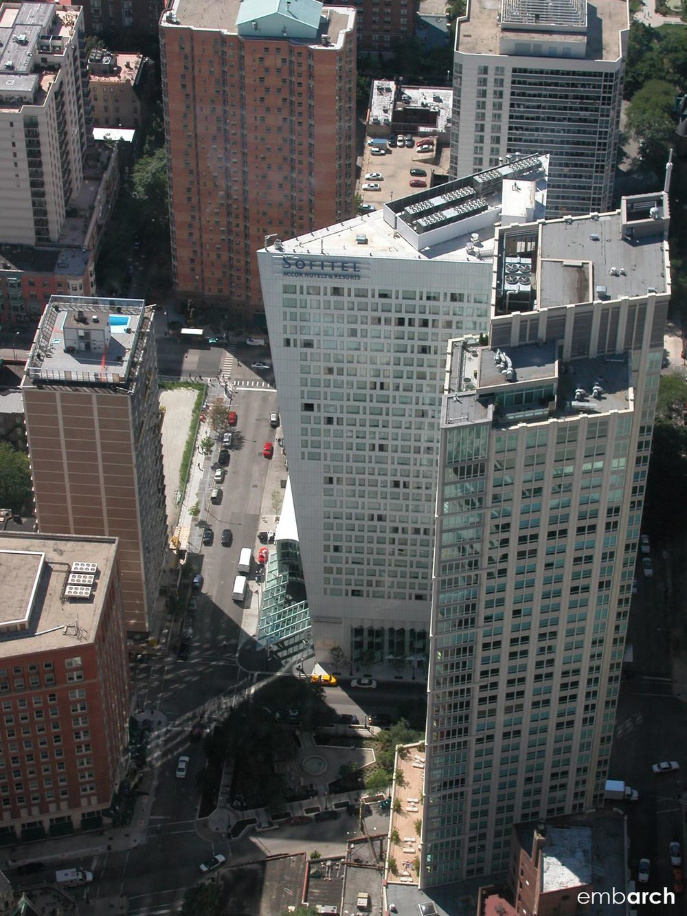 Sofitel Chicago Water Tower - aerial view
