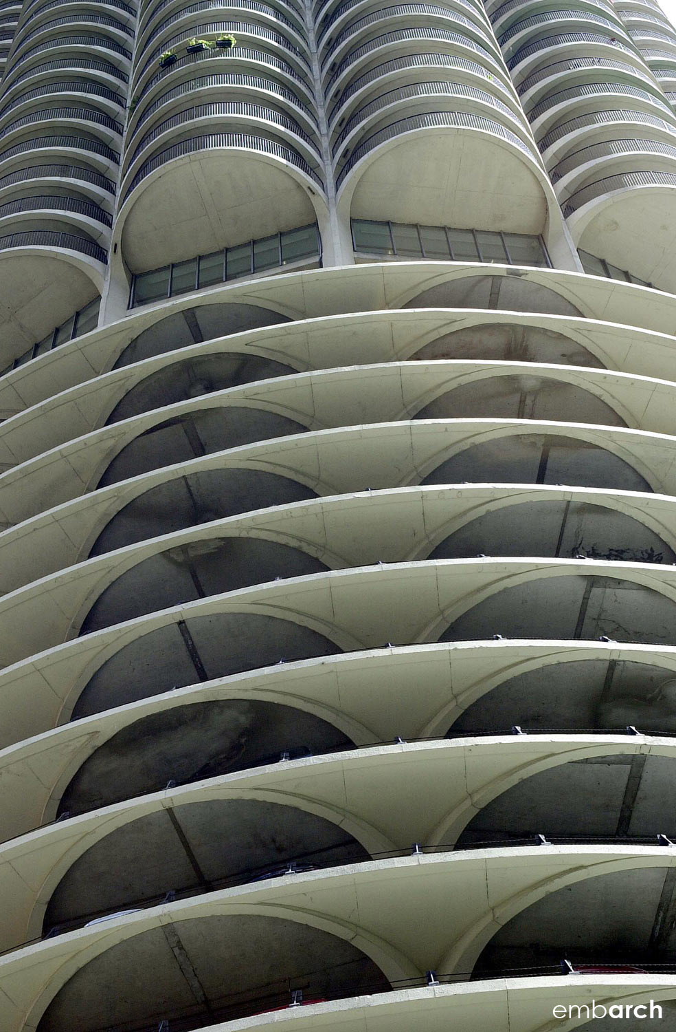 Marina City Towers - exterior detail