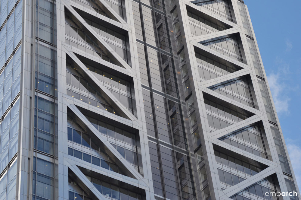 Heron Tower - exterior detail