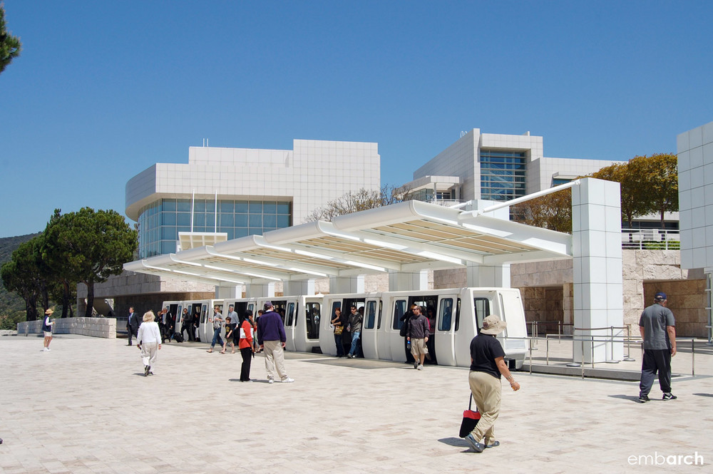 Getty Center - exterior at tram station