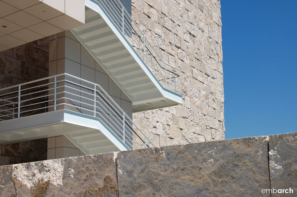 Getty Center - exterior stair detail