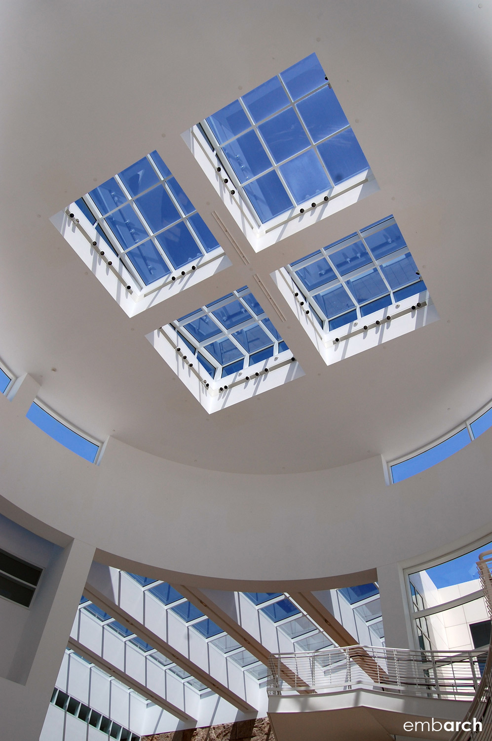 Getty Center - interior view of pavilion ceiling