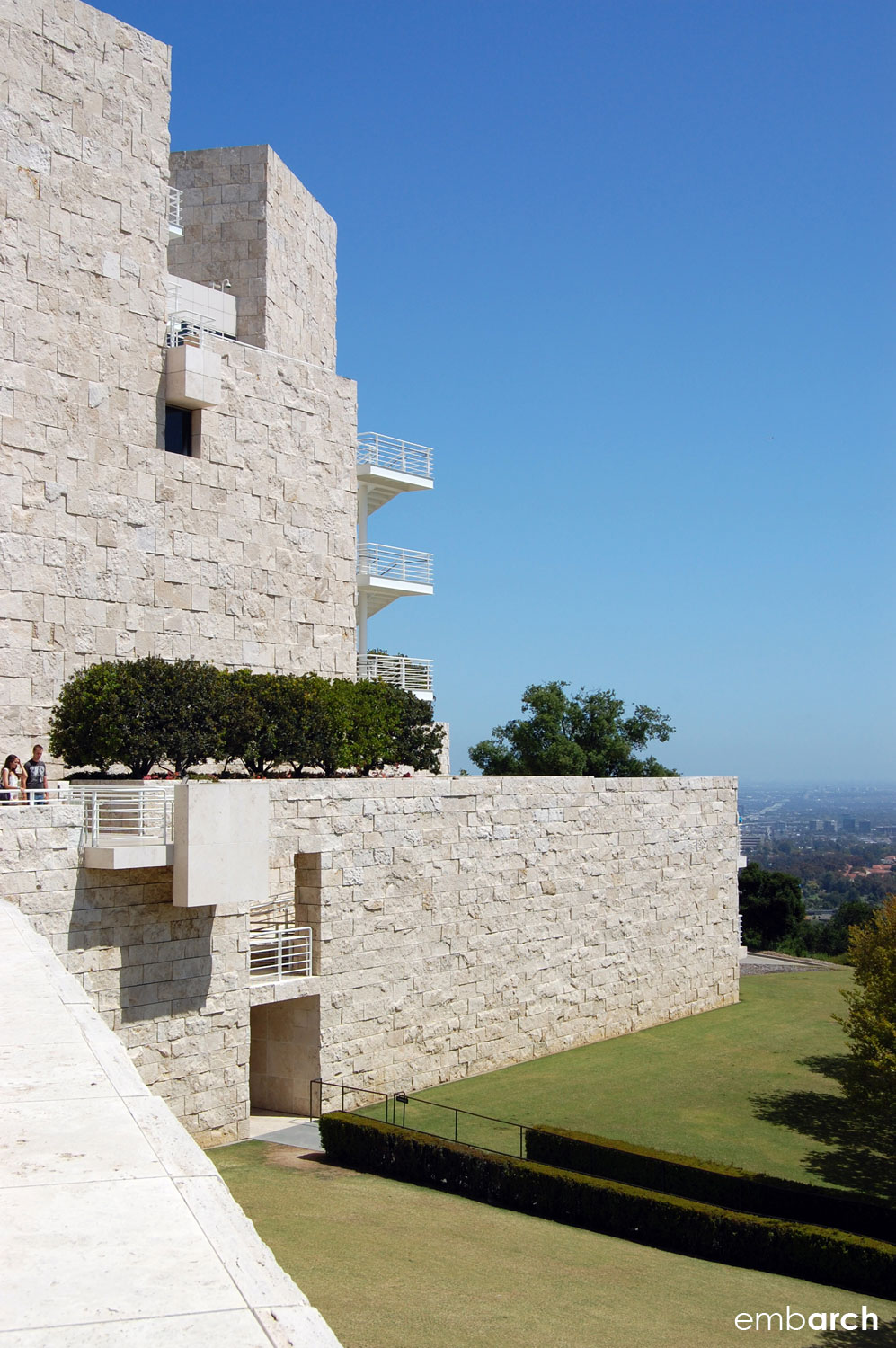 Getty Center - exterior retaining wall