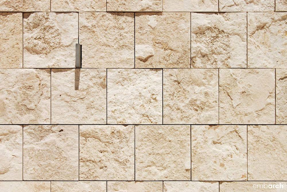 Getty Center - stone wall detail