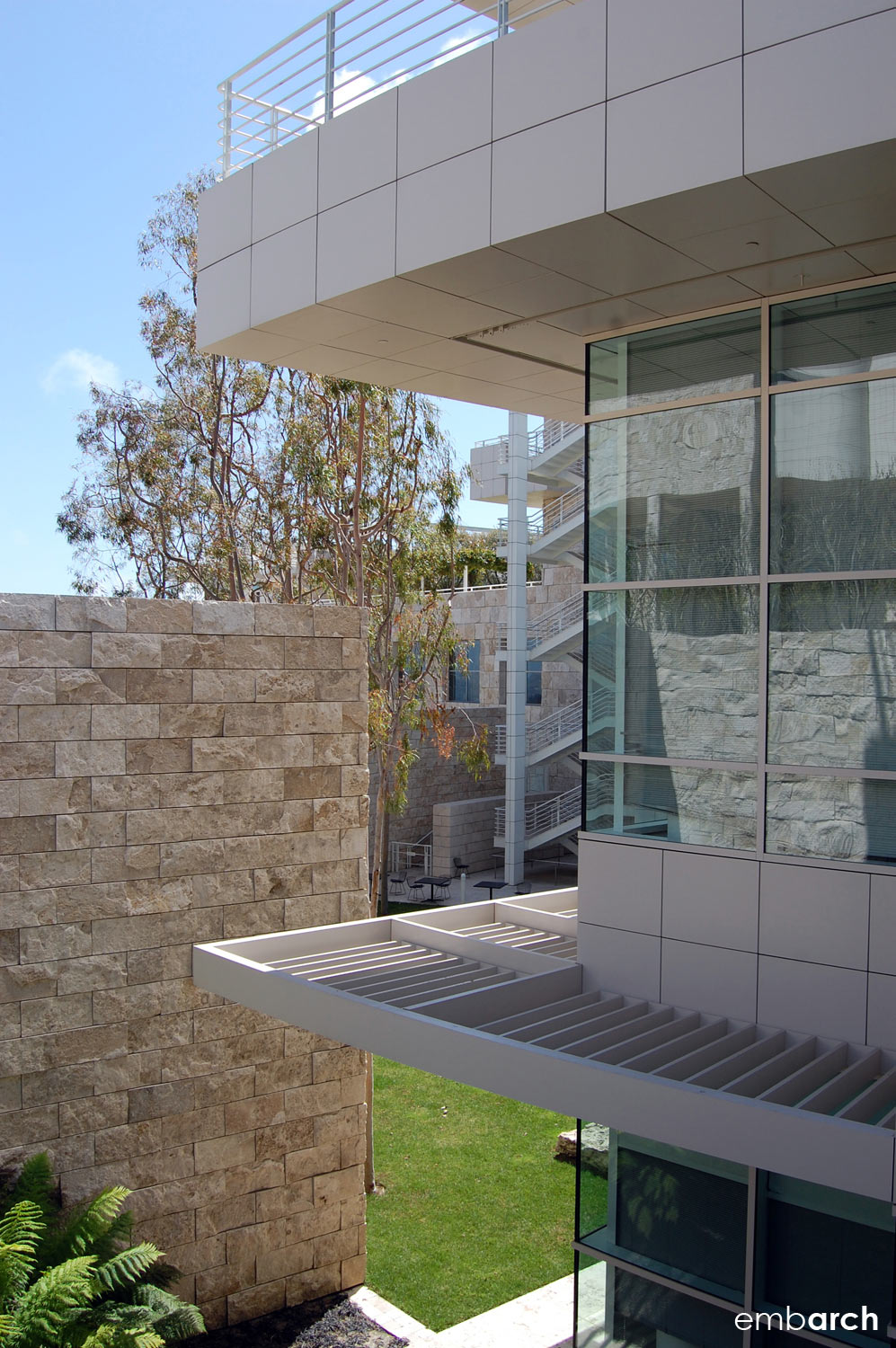 Getty Center - exterior detail