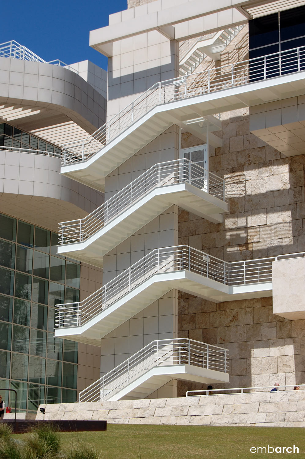 Getty Center - exterior stair