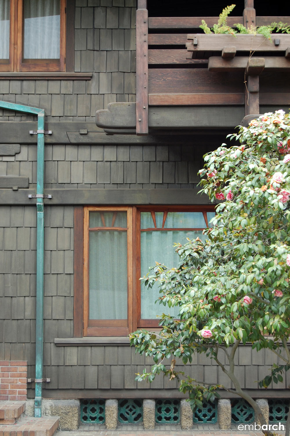 Gamble House - exterior detail