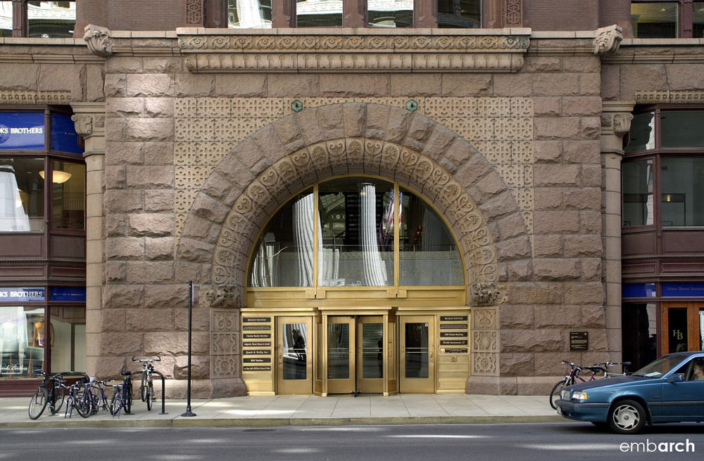 Rookery Building - building entry