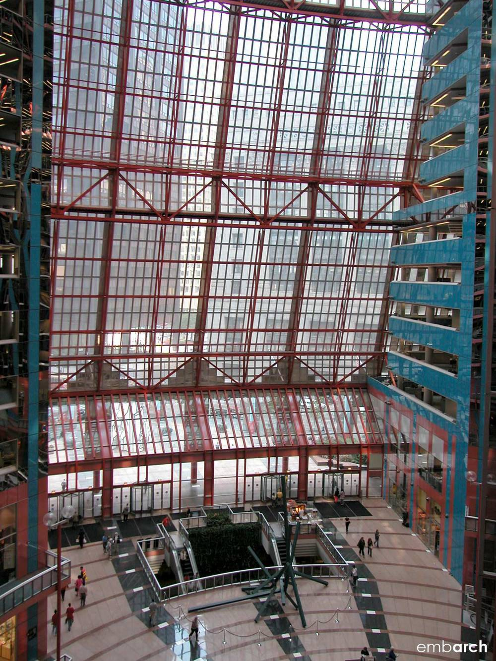 James R. Thompson Center - interior atrium view