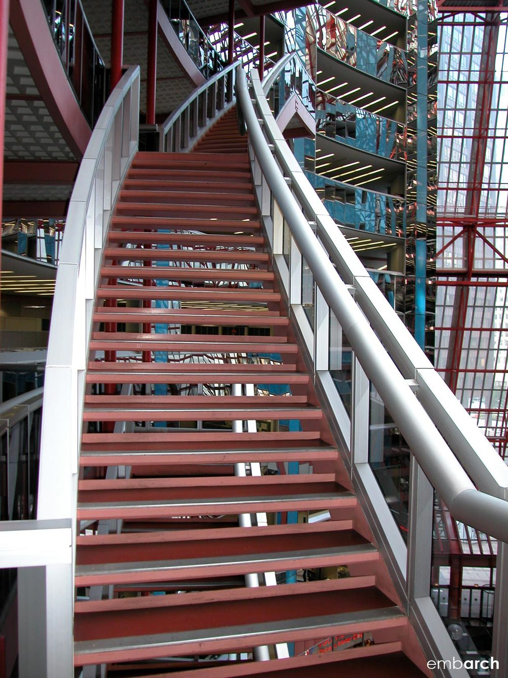 James R. Thompson Center - interior stair