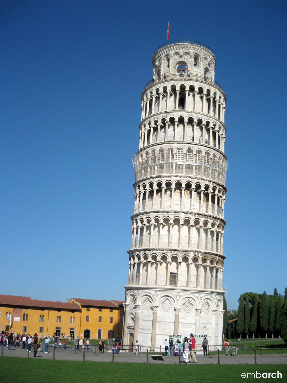 "Piazza del Duomo, Pisa Italy - bell tower, commonly know as ""the Leaning Tower of Pisa"""
