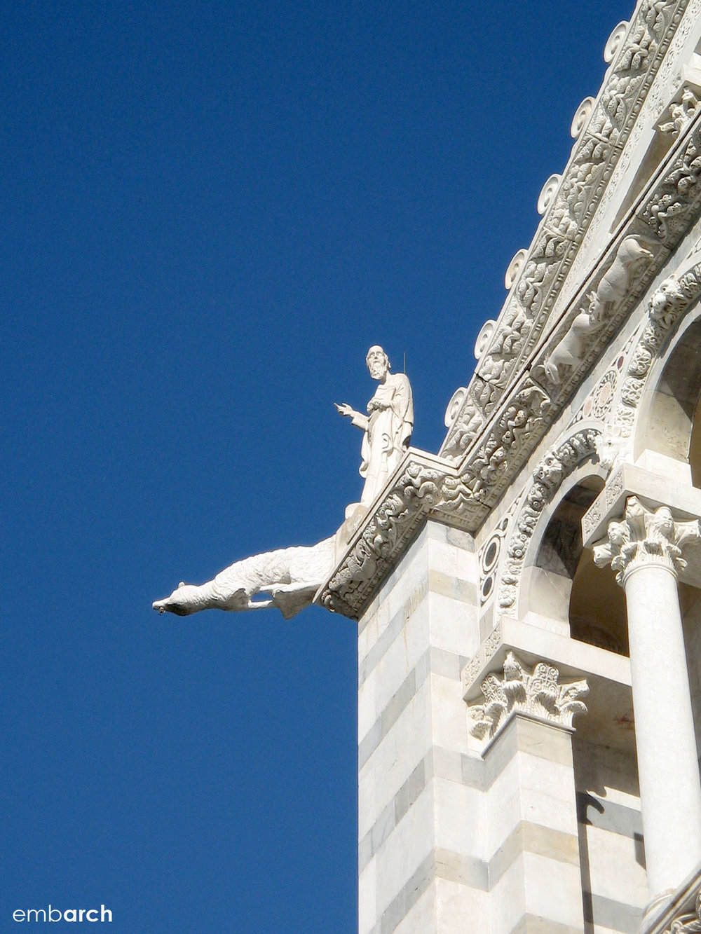 Piazza del Duomo, Pisa Italy - cathedral exterior detail