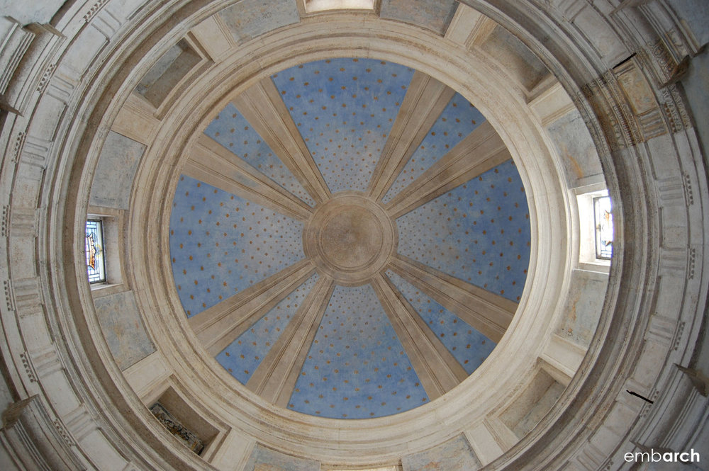 Tempietto - interior view of the dome