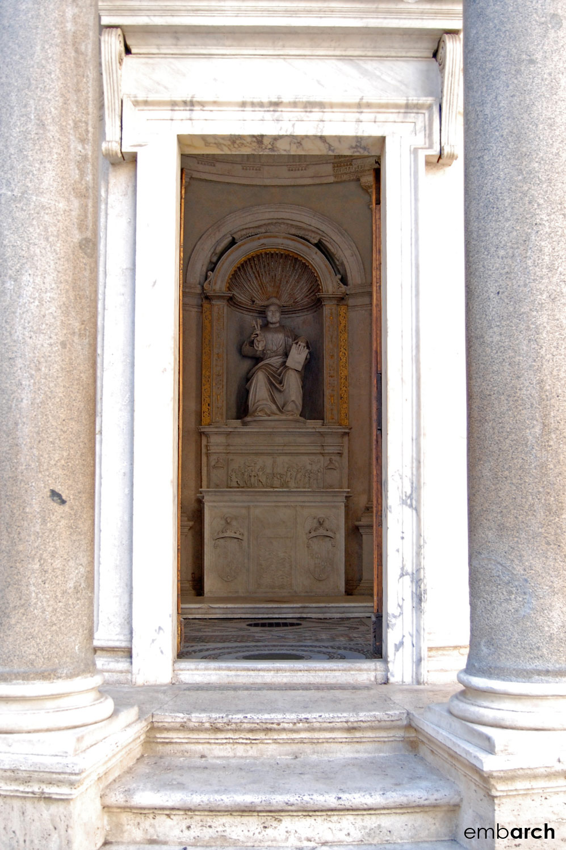 Tempietto - exterior detail