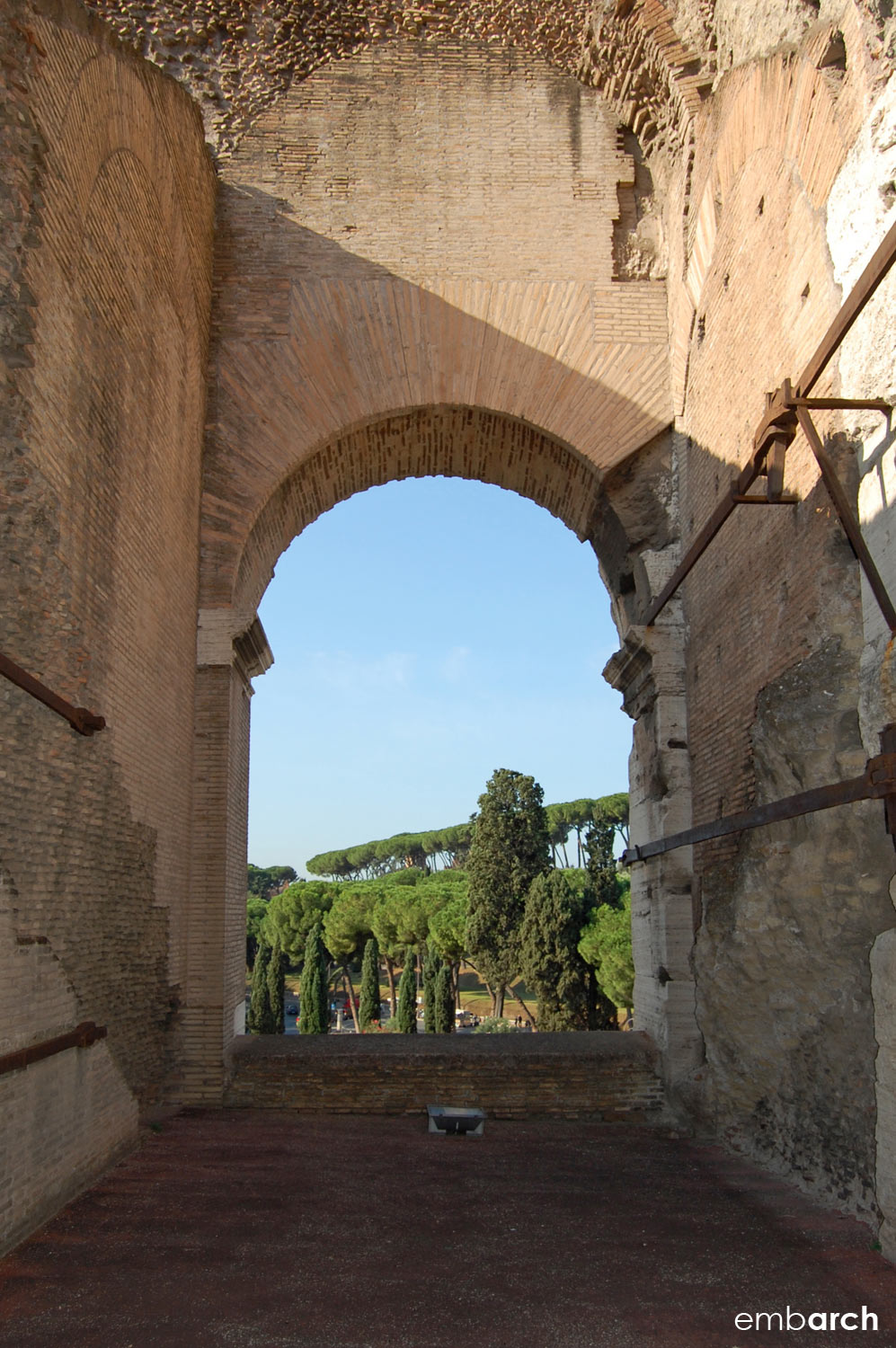 Colosseum - view through arch