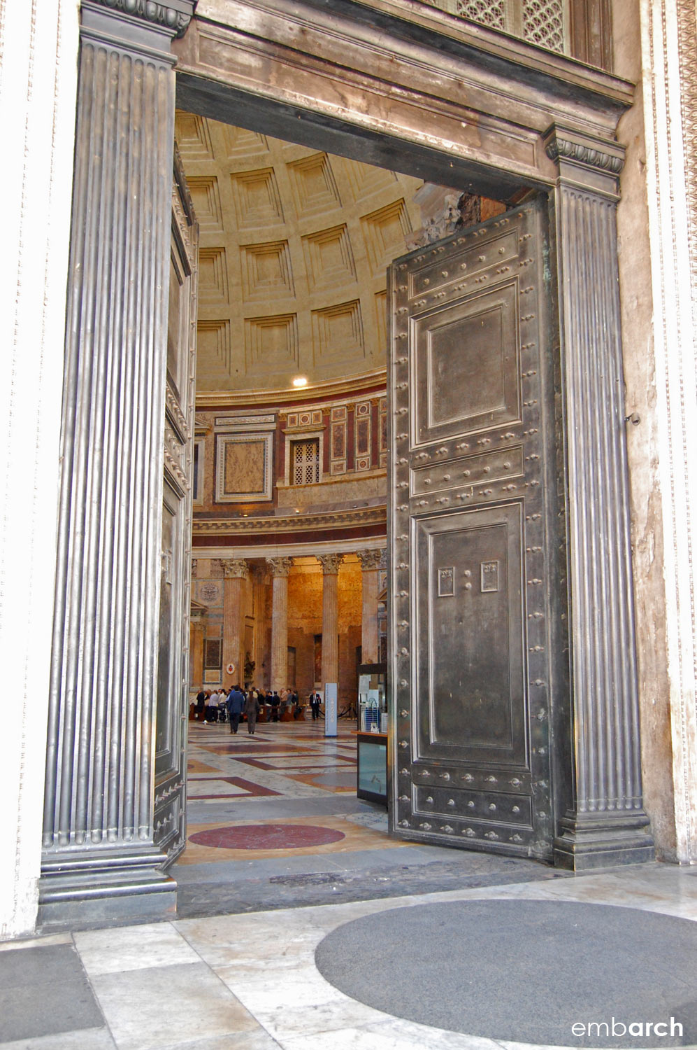 Pantheon - entry doorway