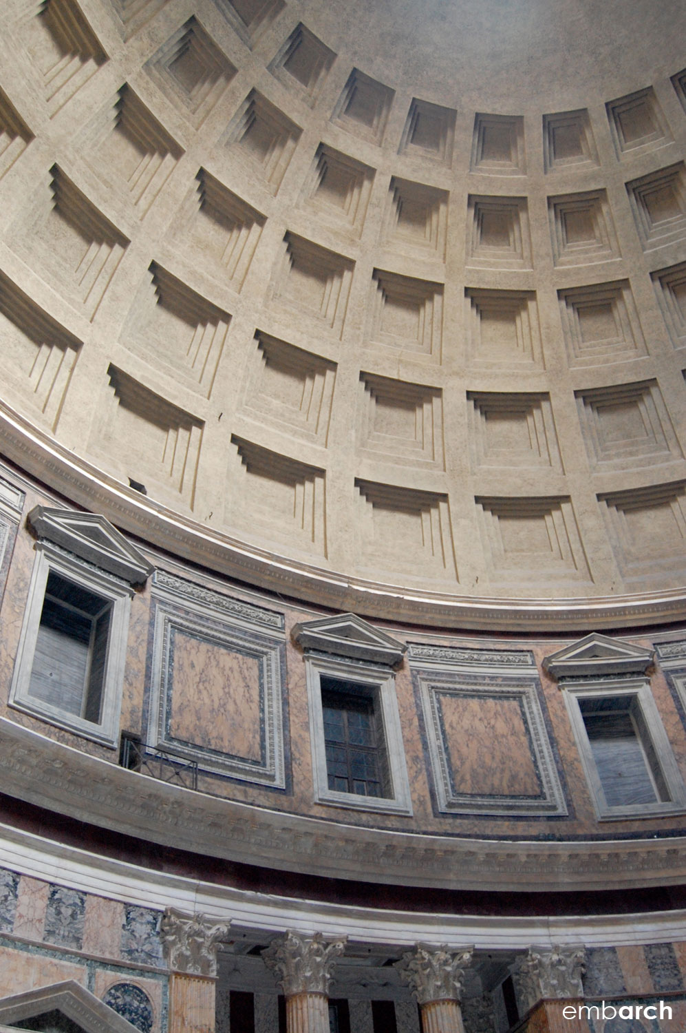 Pantheon - interior dome detail