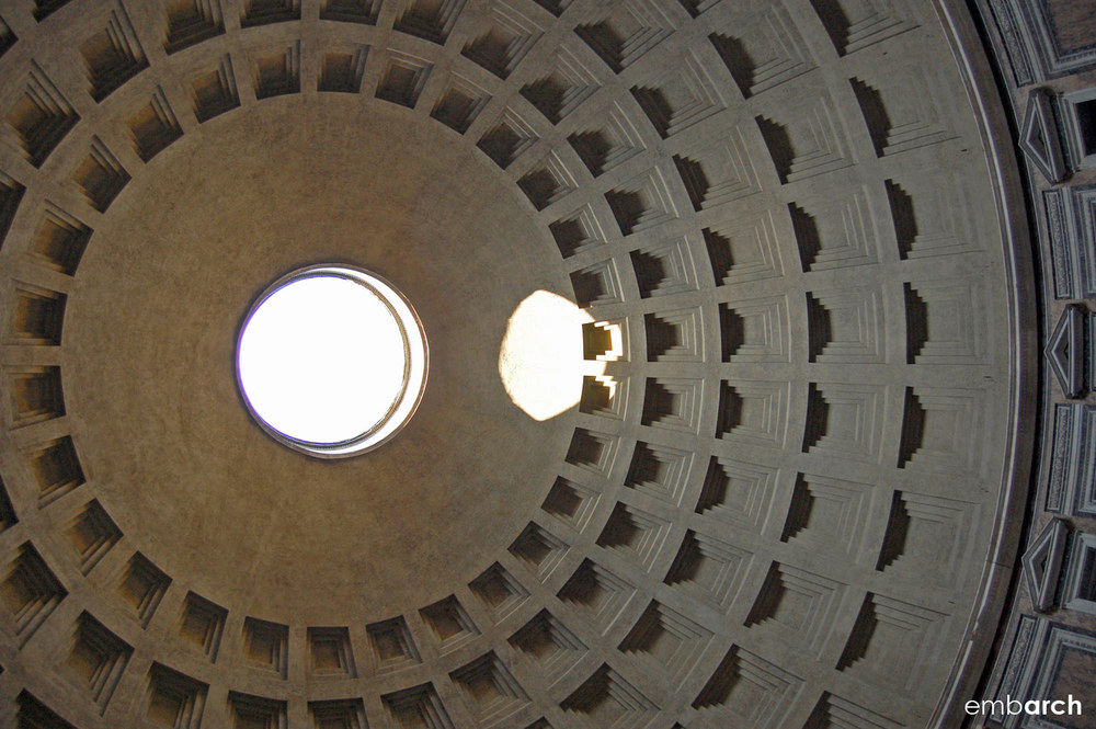 Pantheon - interior view of oculus in dome