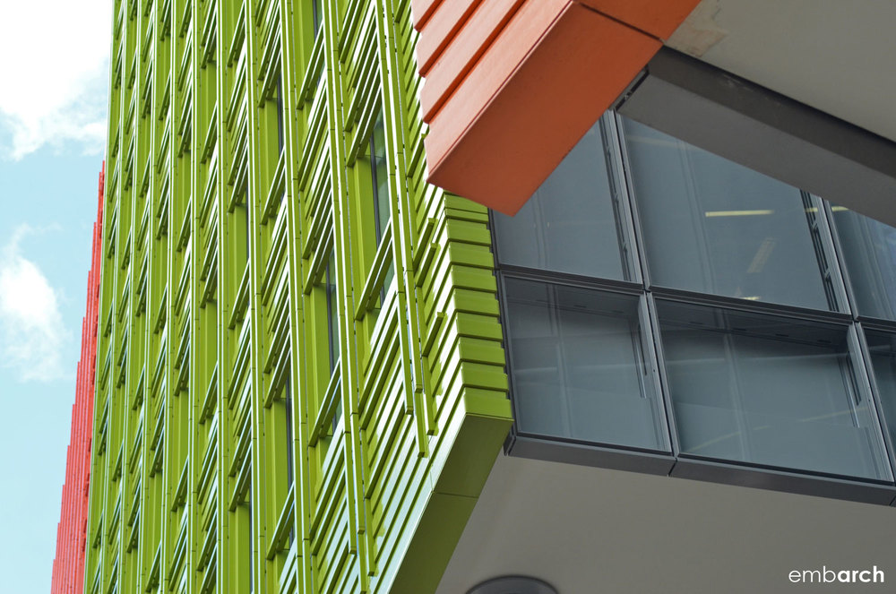 Central St. Giles Court - exterior detail