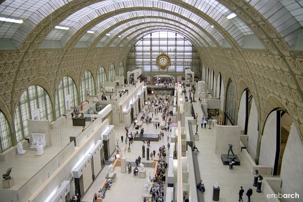 Musee D'Orsay - view of interior