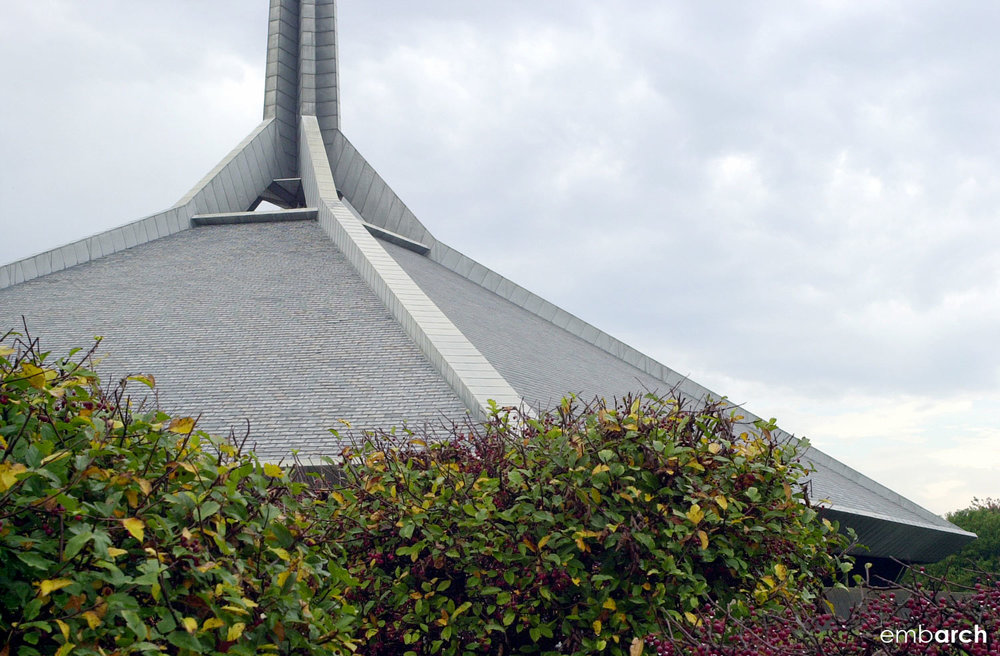 North Christian Church - detail of roof