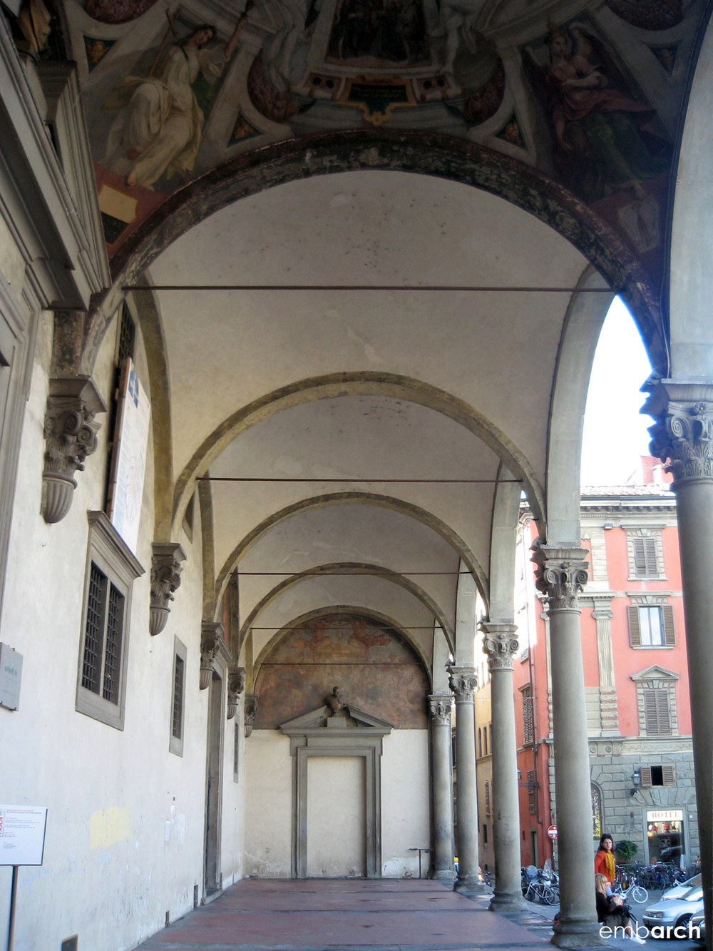 Hospital of the Innocents - exterior  portico