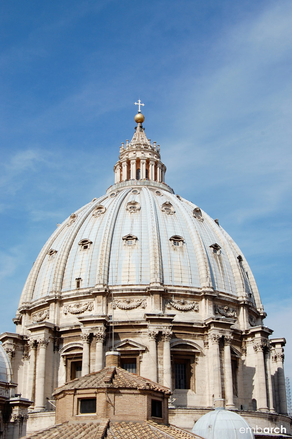 St. Peter's Basilica - view of main basilica dome.
