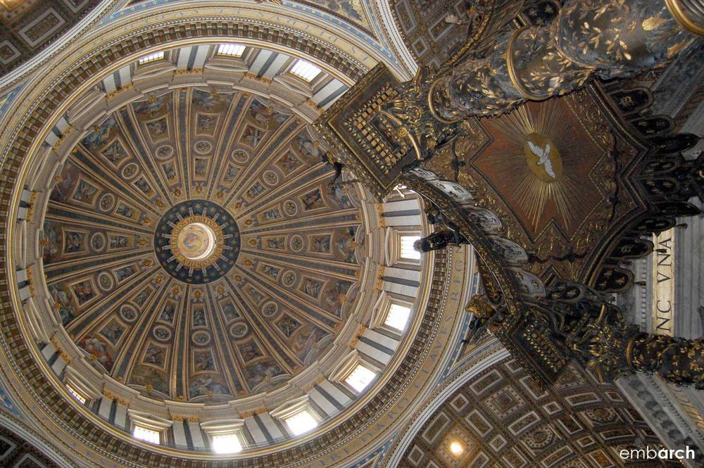 St. Peter's Basilica - interior view of dome