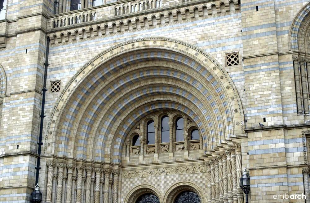 Natural History Museum, London - exterior detail