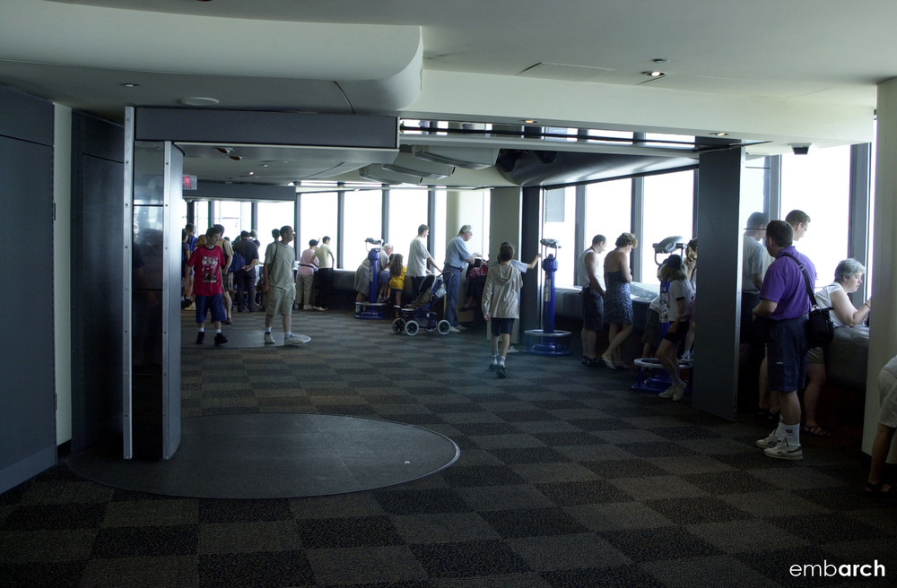 CN Tower - view of interior