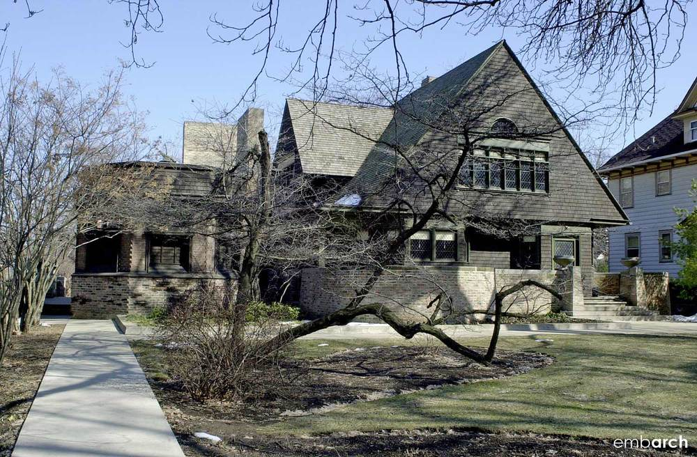 Frank Lloyd Wright Home and Studio - view of exterior