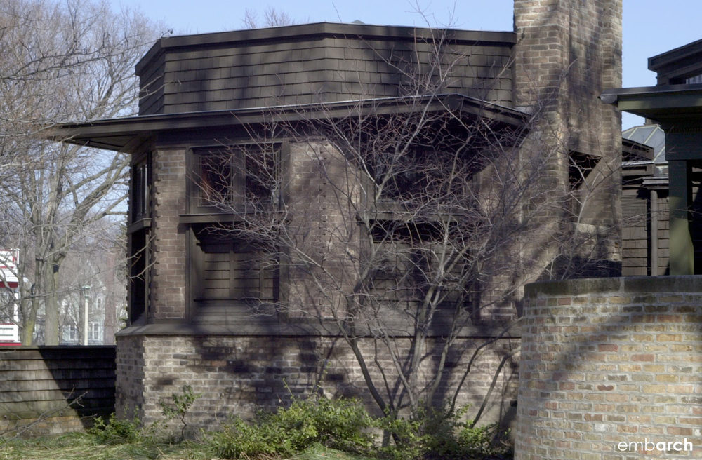 Frank Lloyd Wright Home and Studio - exterior detail
