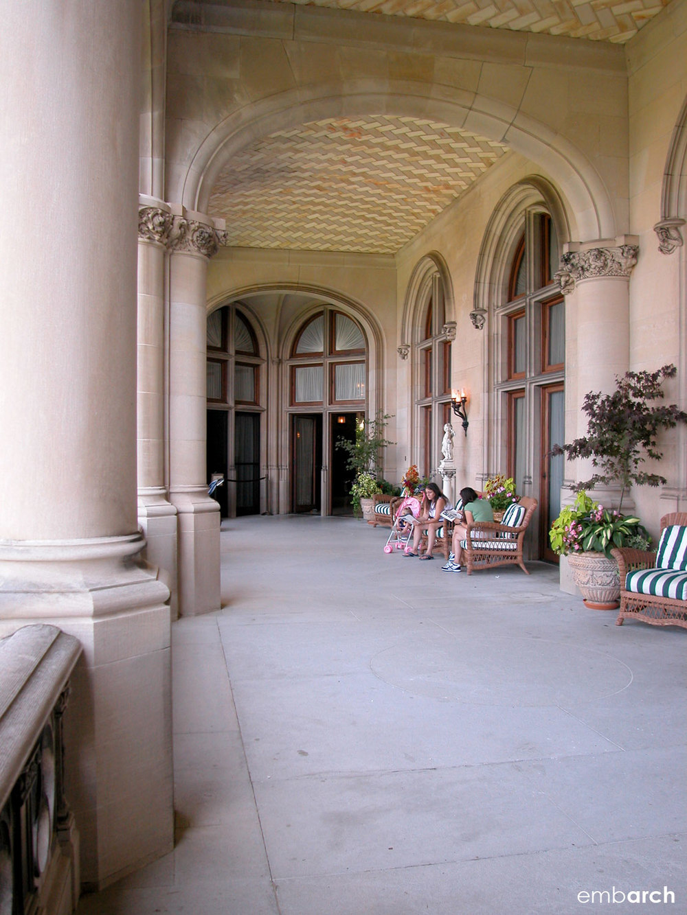 Biltmore Estate - exterior porch