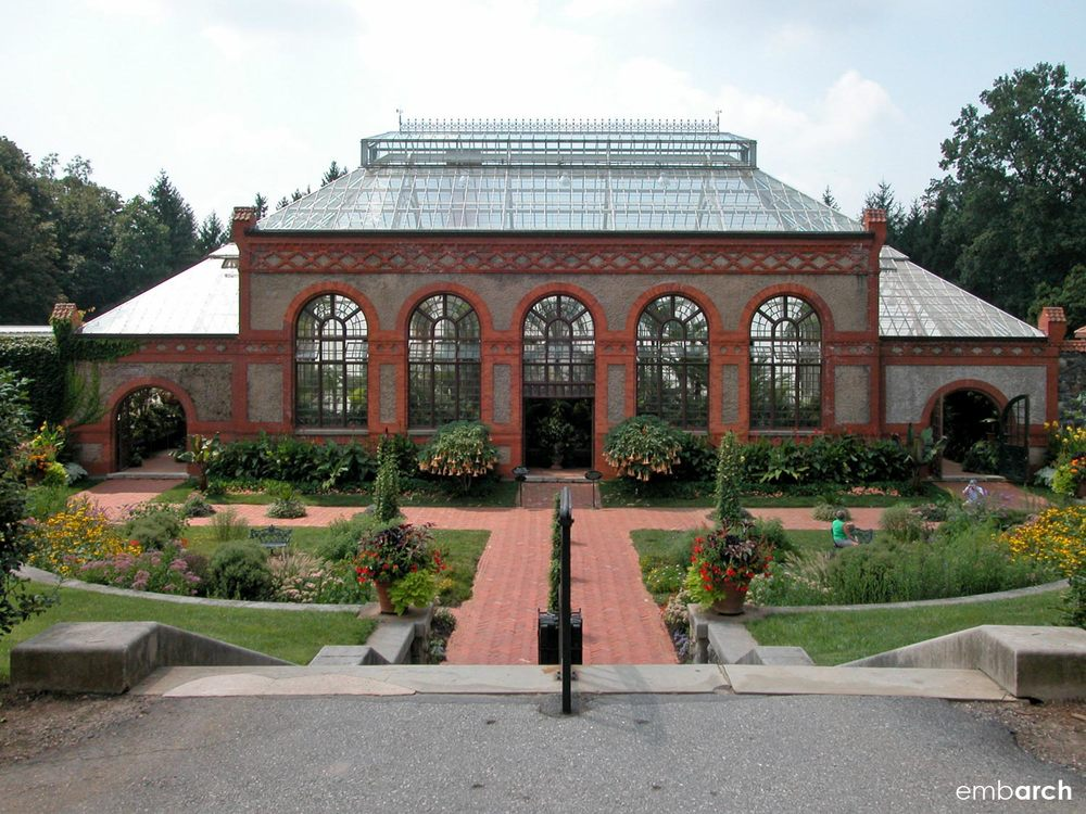 View of the Conservatory at the Biltmore Estate.