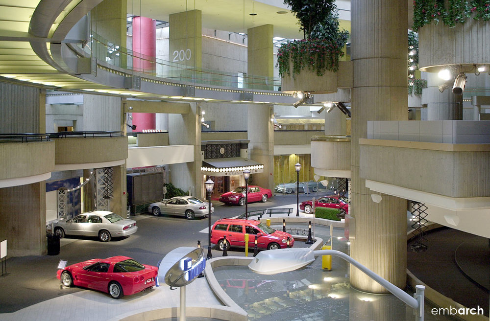 GM Renaissance Center - interior