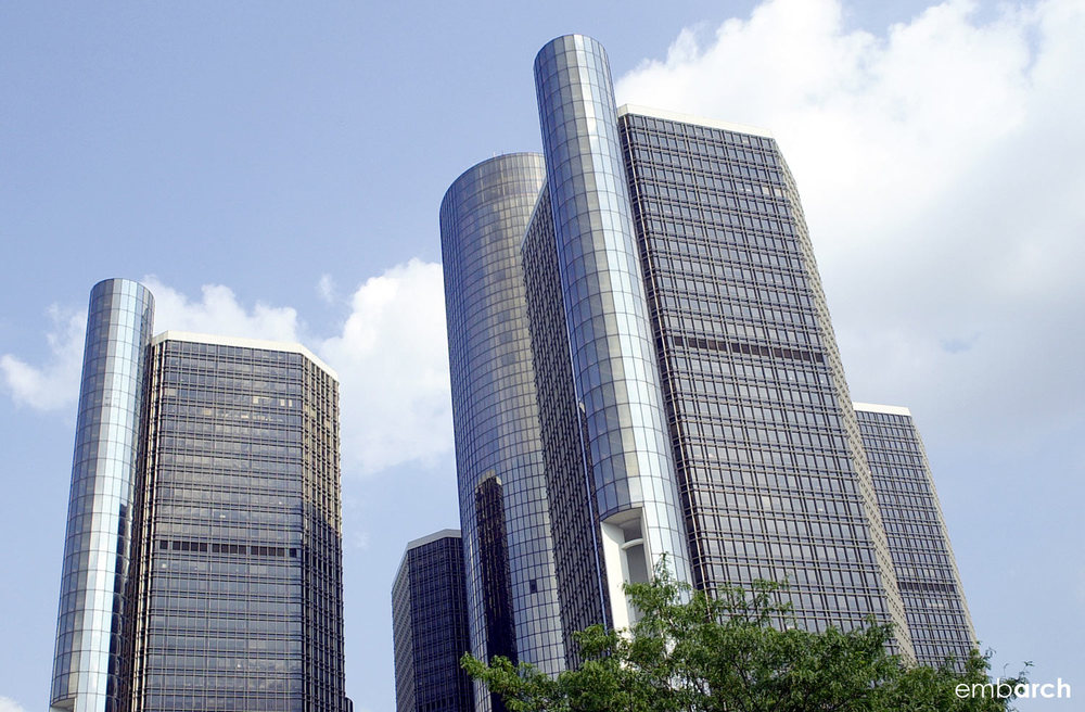 GM Renaissance Center - exterior