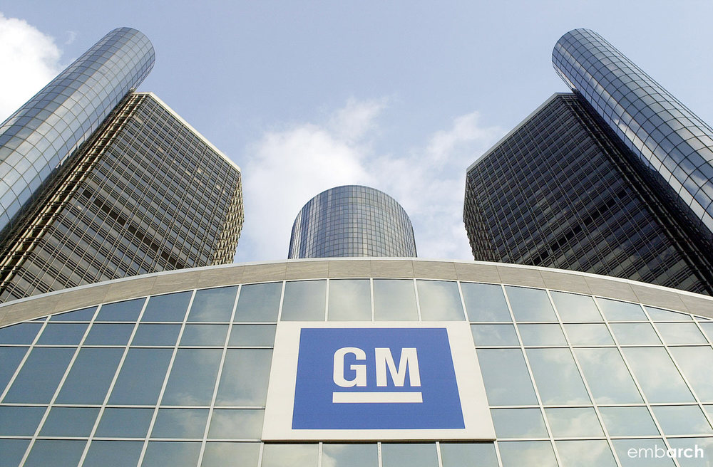 GM Renaissance Center - exterior detail