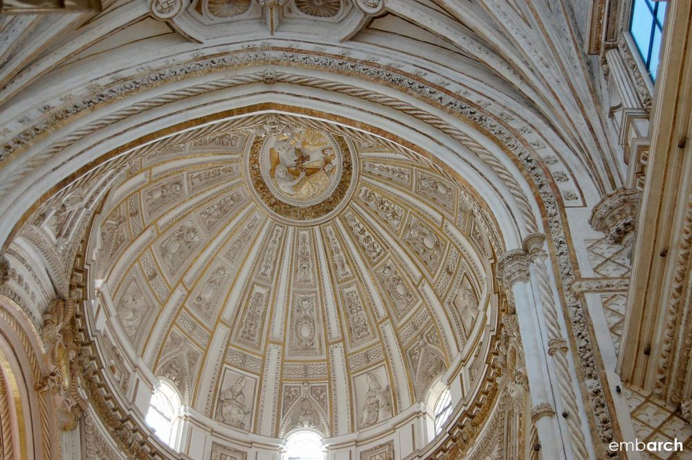 The Mosque-Cathedral of Cordoba - interior ceiling detail